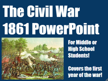 Civil War in 1861 PowerPoint for Middle and High School History