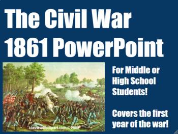 Civil War in 1861 PowerPoint