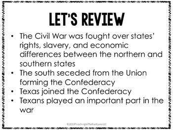 Civil War in Texas PowerPoint
