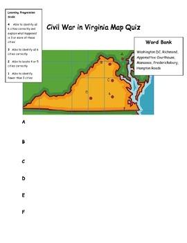 Civil War in Virginia Map Quiz
