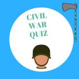 Civil War matching quiz