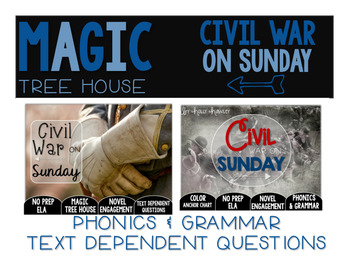 Civil War on Sunday NO PREP and Text Dependent Questions BUNDLE