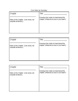 Civil War on Sunday Note Taking Template