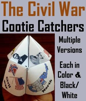 Civil War to Present Time Cootie Catchers Bundle