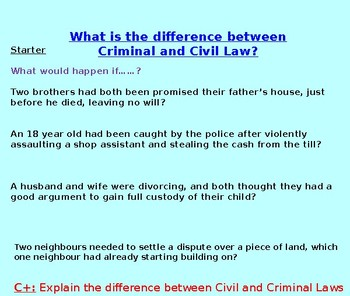 Civil and Criminal Law KS3/4