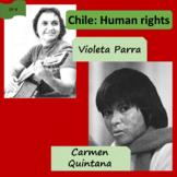 Human rights, Chile - Violeta Parra (1), Carmen Quintana (