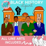 Black History - Civil rights movement clipart {Social Studies clip art}