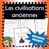Civilisations anciennes - Projet (Ancient Civilizations Project)