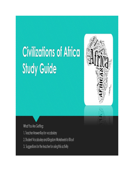 Civilization of Africa Study Guide