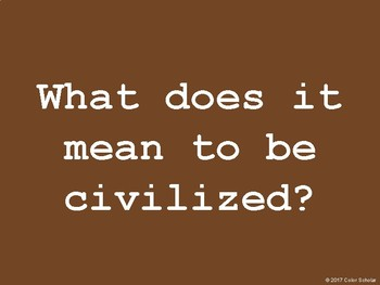 Civilizations - Presentation / Images for Discussion