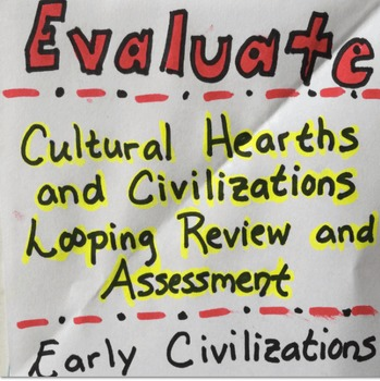 Civilizations and Cultural Hearths Looping Activity and Assessment