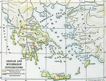 Civilizations of Crete and Mycenae Map