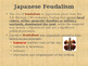 Civilizations of East Asia - European v Japanese Feudalism