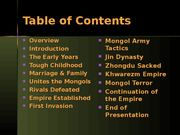 Civilizations of East Asia - Key Figures - Genghis Khan