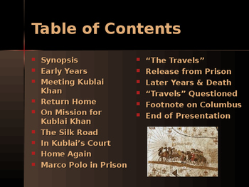 Civilizations of East Asia- Key Figures - Marco Polo