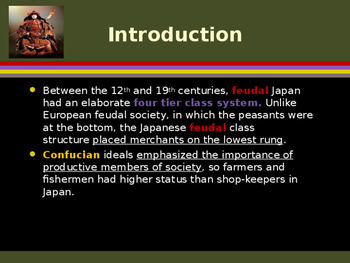 Civilizations of East Asia - The Four Tiered Class System of Feudal Japan