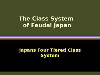 Civilizations of East Asia - The Four Tiered Class System