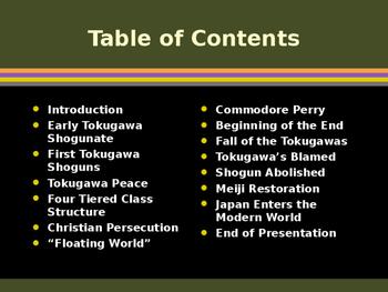 Civilizations of East Asia - Tokugawa Shoguns of Japan