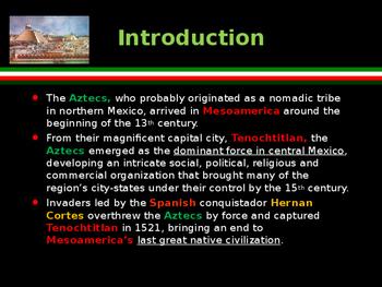 Civilizations of the Americas - Mesoamerica- The Aztecs