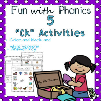 """Ck"" Worksheets - Fun with Phonics!"