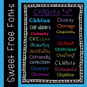 Ckfonts {Set 4} 20 New Sweet Fonts for Teachers (Personal & Classroom Use)