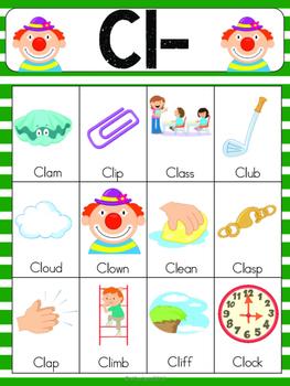 Cl Blend Vocabulary Cards