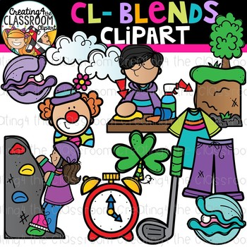 Cl- Blends Clipart {Beginning Blends Clipart}