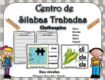 Cl Centro de Silabas Trabadas Grupos Consonanticos StationsBilingual Mrs.Partida