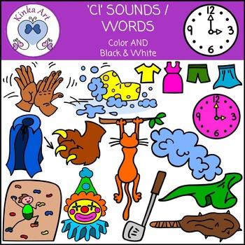 Cl Sounds / Words: Beginning Sounds Clip Art