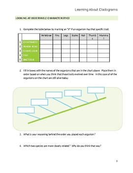 Cladogram Activity: Evolution Cut and Paste