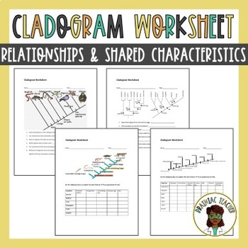 Cladogram Worksheets by The Brainiac Teacher | Teachers Pay Teachers