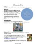 Claes Oldenburg and 3 Dimensional Art Lesson Plan