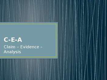 Claim Evidence Analysis Powerpoint