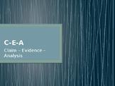 Claim Evidence Analysis Powerpoint