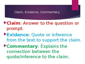 Claim-Evidence-Commentary PPT