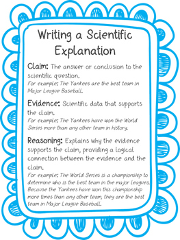 Claim, Evidence, Reasoning Anchor Chart