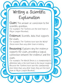 Claim, Evidence, Reasoning Anchor Chart