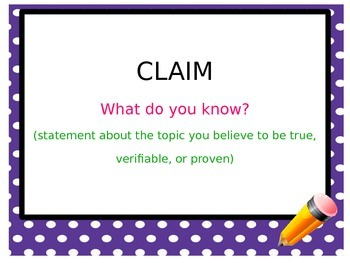 Claim, Evidence, Reasoning (CER) Analytical Writing