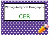 Claim, Evidence, Reasoning (CER) Analytical Writing