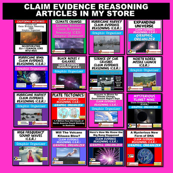Current Event Claim Evidence Reasoning (CER) Graphic Organizer