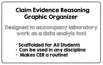 Claim Evidence Reasoning-CER Graphic Organizer
