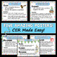 Claim, Evidence, Reasoning CER Poster Bundle - 5 Posters!