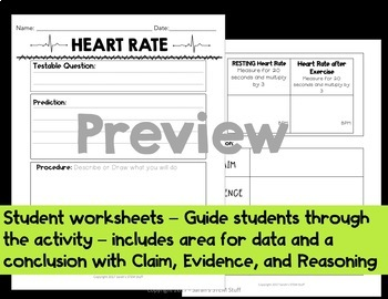Claim, Evidence, Reasoning CER: Scientific Argument - Exercise and Heart Rate