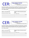 Claim Evidence Reasoning (CER) and Mystery Box Inquiry Form
