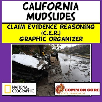 Claim Evidence Reasoning California Mudslides (Current Event and Sub Plan)
