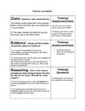 Claim, Evidence, Reasoning Chart