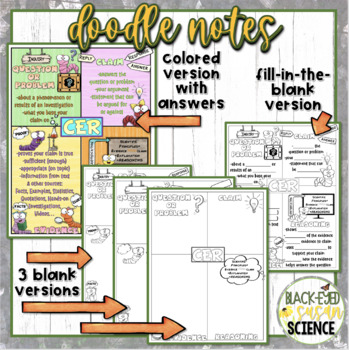 Claim, Evidence, Reasoning Doodle Notes (NGSS)