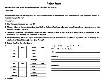 Claim Evidence Reasoning Foldable and Activity for Interactive Notebooks