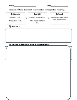 claim evidence reasoning graphic organizer by teacher central tpt. Black Bedroom Furniture Sets. Home Design Ideas