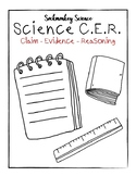 Claim Evidence Reasoning Graphic Organizer: Science Poster